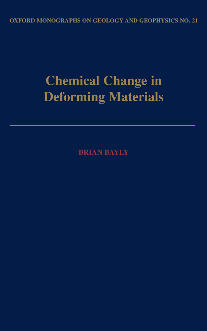 Chemical Change in Deforming Materials - Oxford Scholarship Online