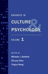 Advances in Culture and PsychologyVolume 1