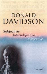 Subjective, Intersubjective, ObjectivePhilosophical Essays Volume 3$
