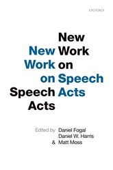 New Work on Speech Acts$