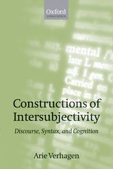 Constructions of Intersubjectivity – Discourse, Syntax, and Cognition - Oxford Scholarship Online