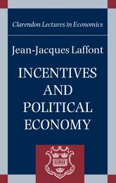 Incentives and Political Economy$