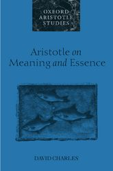 Aristotle on Meaning and Essence
