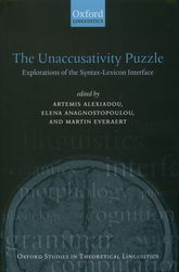 The Unaccusativity PuzzleExplorations of the Syntax-Lexicon Interface$