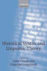 Historical Syntax and Linguistic Theory - Oxford Scholarship Online